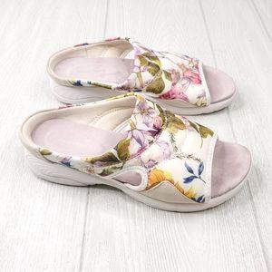 Easy Spirit Seteak2 Floral Slip On Sandals 8W